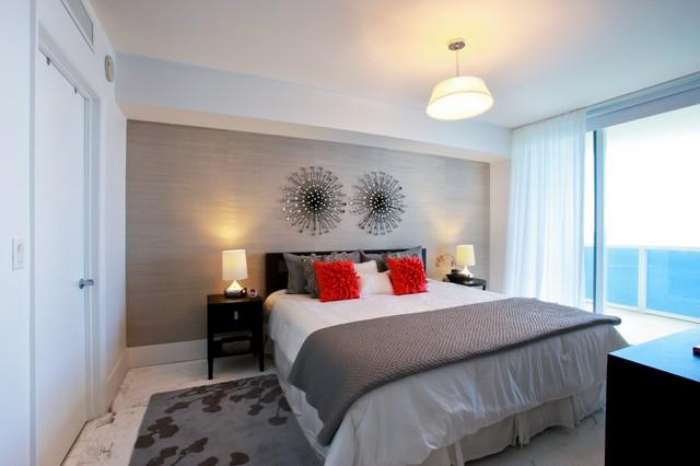 Hallandale Beach Condo  Contemporary  Bedroom  miami