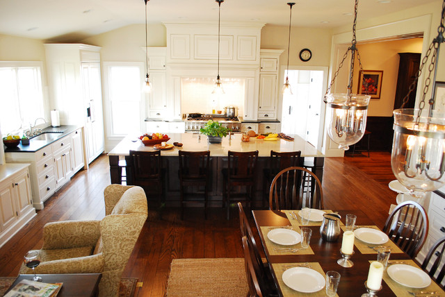 Farmhouse Kitchen Renovation Traditional Dining Room By The Bellepoint Company