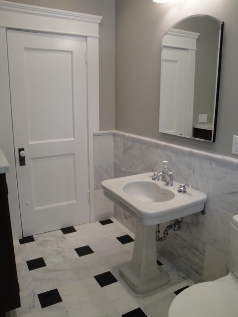 Greek Revival Styled Bathrooms in Long Beach