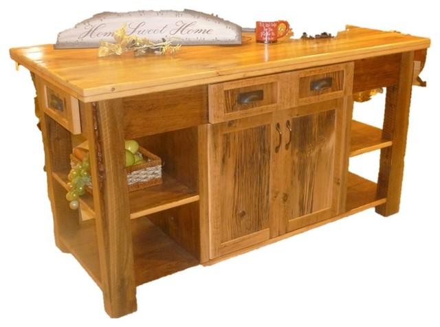 Barnwood Furniture Traditional Kitchen Islands Carts