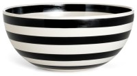 Black and White Striped Bowl - Transitional - Serving And ...