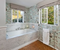 Bathroom Wallpaper! - Traditional - Bathroom - santa ...