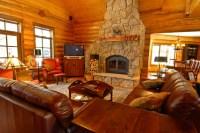 Sage Creek Canyon Hybrid Log Home - Rustic - Living Room ...