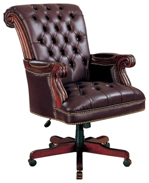 traditional leather office chair Coaster Office Chairs Traditional Executive Chair in Brown - Traditional - Office Chairs - by Cymax