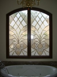 "Bathroom Windows - ""Arabesque Bevels"" Leaded Beveled Glass ..."