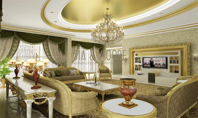 Doha Mansion 1 Qatar  Traditional  Living Room  other