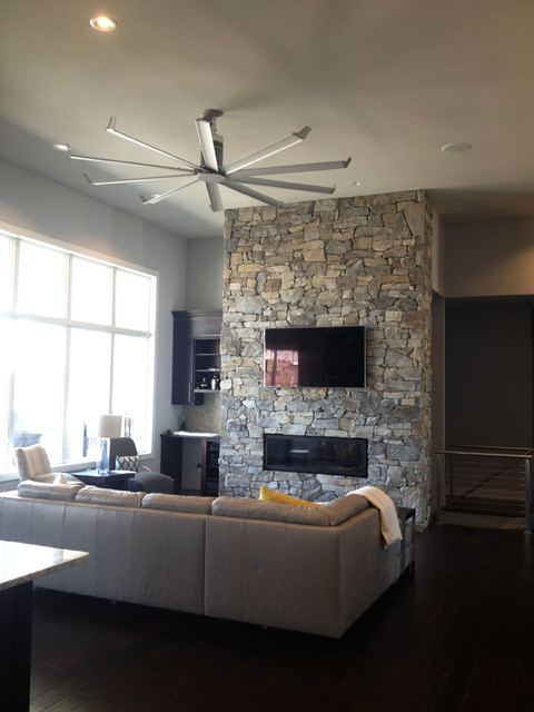 Isis Ceiling Fan  Contemporary  Family Room  louisville