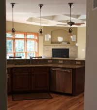 Pendant lighting over island - Traditional - Kitchen ...