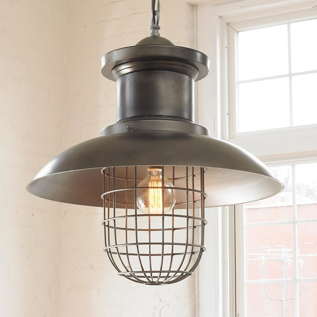 Wire Cage Industrial Shade Pendant