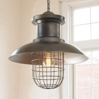 Wire Cage Industrial Shade Pendant - Lamp Shades - by ...