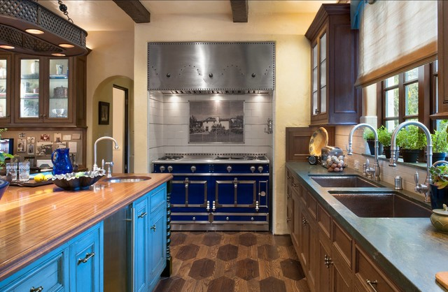 mediterranean kitchen by Parker West Interiors