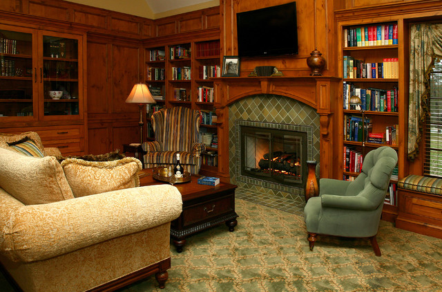 Old World Library  Traditional  Living Room  other