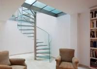 Glass Spiral Staircase - Contemporary - Staircase ...