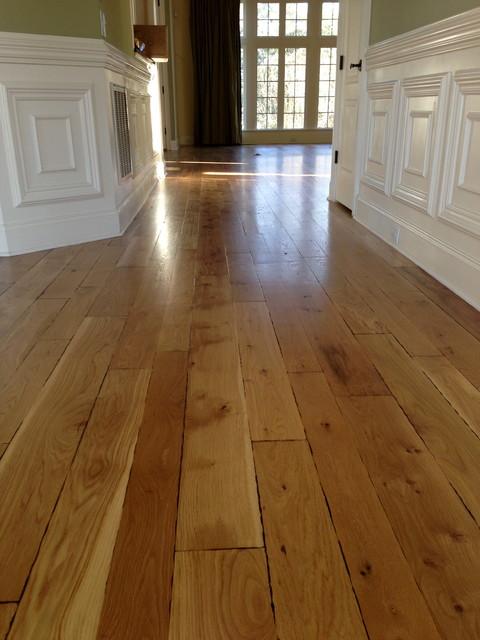 Custom Hand Beveled Rustic White Oak Flooring