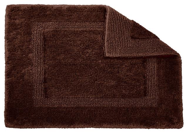 Habidecor Reversible Dark Brown Bath Rug Small