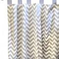 Gray chevron zig zag curtain panels contemporary curtains by