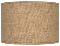 Country - Cottage Woven Burlap Drum Lamp Shade 12x12x8.5 ...