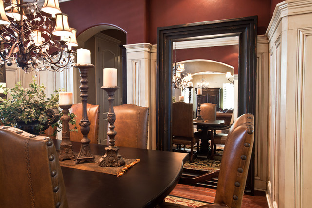 Dining Room Leaning Mirror  Traditional  Dining Room