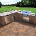 Nicolock outdoor kitchen and grill contemporary patio new york