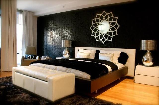 Sleek Bedroom by Busybee Design  Contemporary  Bedroom