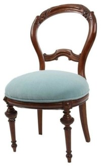 Pre-owned Victorian Style Turquoise Velvet Chair ...