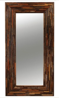 Berlin Mix Reclaimed Wood Floor Mirror - Rustic - Floor ...
