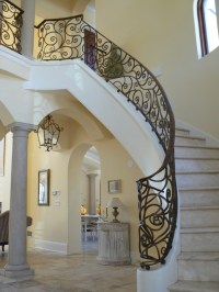 French Country Home Railing - Mediterranean - Staircase ...