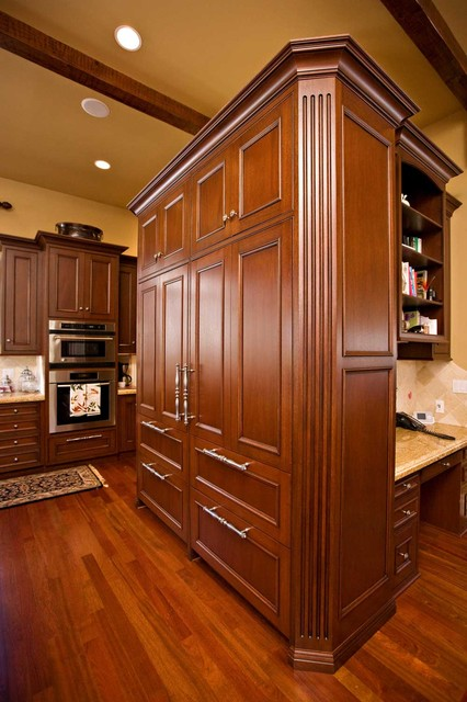 kitchen rugs for hardwood floors install cabinets sub zero refrigerator with custom cabinetry - traditional ...