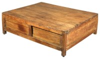 Handmade Solid Teak Wood Large Coffee Table with Storage ...