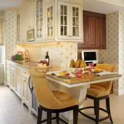Counter Height Kitchen Chairs Upper Cabinets With Glass Doors 15 Eat-in Kitchens That Put Your Dining Room To Shame