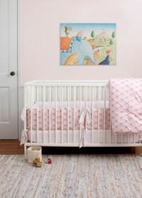 Wave Orange Nursery Crib Bedding - Modern - Baby Bedding ...