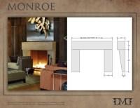 Monroe Modern Stone Fireplace Mantel