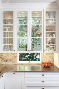 Kitchen Design: Glass Cabinets in Front of Windows