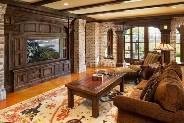 dark sofa decor sofas short lead time elegant english country home - traditional family room ...