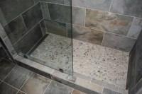 Mosaic Tile Company Slate Green Tile, River Rock Shower Floor