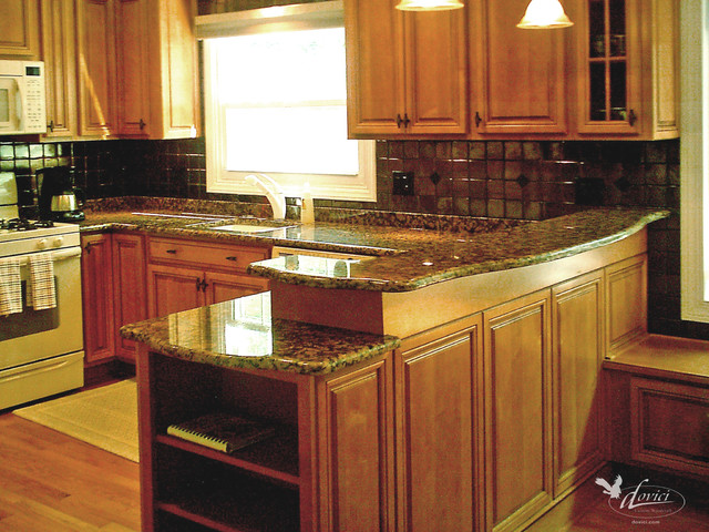 Kitchen With Step Up Countertop Traditional Kitchen Dc Metro By Dovici Custom Woodcraft