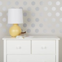 Lottie Dots Decal, Silver - Contemporary - Wall Decals ...