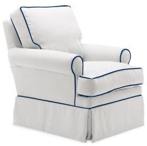 glider chair accessories vermont rocking lily chair, navy piping - contemporary gliders by amazon