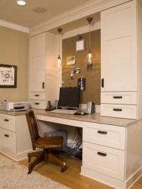 Home Office Built-in Desk   Houzz