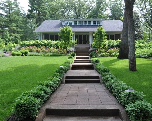 front yard walkways home design