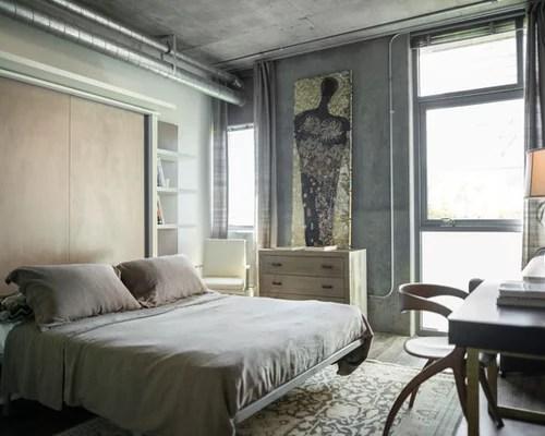 industrial grey bedroom Industrial Grey Bedroom Ideas & Photos