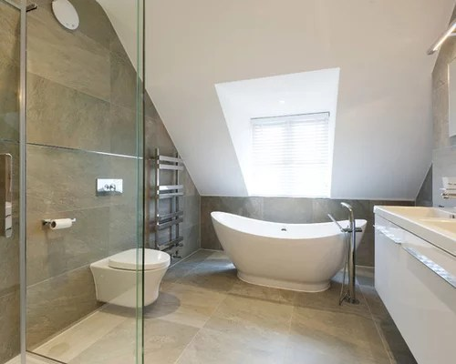 Sloped Ceiling Bath  Houzz