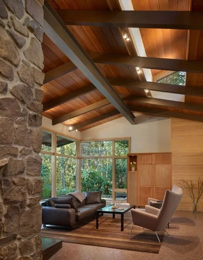 Midcentury Living Room by FINNE Architects