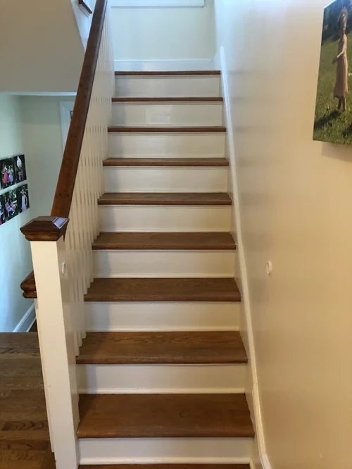 How Easy Is It To Install Your Own Stair Runner | Wedge Shaped Carpet Stair Treads | Beige | Spiral Stairs | Wood | Adhesive Carpet | Flooring
