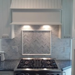 Corner Kitchen Sink Cabinet Samsung Honed Marble Backsplash | Houzz