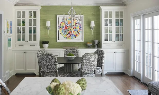 Transitional Dining Room by Nicoud and Spaidal Interiors