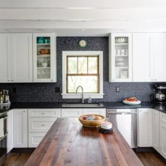 Penny Tile Backsplash Kitchen Hotels In Nyc With Kitchens Forevermark Cabinets | Houzz