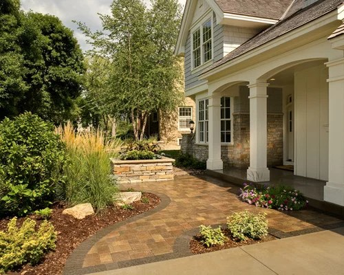 front yard landscape with creative
