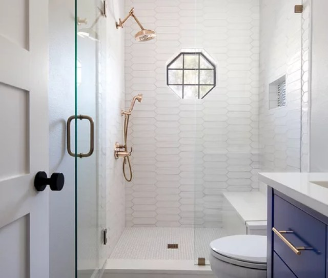 Inspiration For A Small Transitional   White Tile And Porcelain Tile Multicolored Floor And