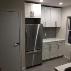Undermount Porcelain Kitchen Sink Oak Cabinet Astoria, Queens, Nyc & Bath Renovation ...
